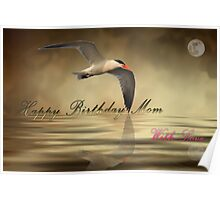 Happy Birthday Mom Card Poster