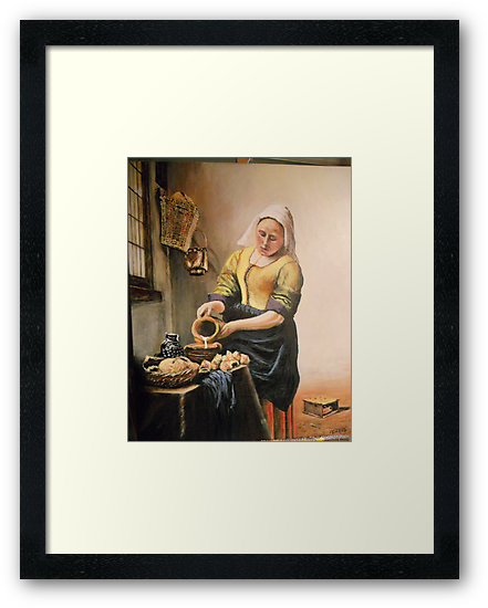 Maid Pouring Cream by Johannes Vermeer by Jsimone