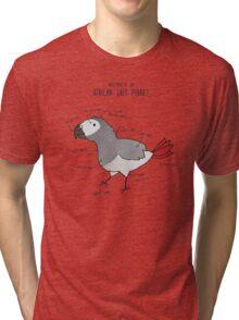 Anatomy of an African Grey Parrot Tri-blend T-Shirt