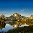 Oxbow Bend in Full Fall Color by Wil Bloodworth