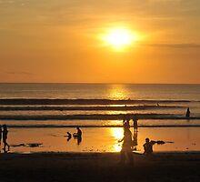 Kuta beach sunset by markdavies87