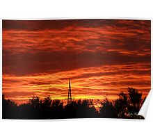 Sunrise at Beebyn Station Poster