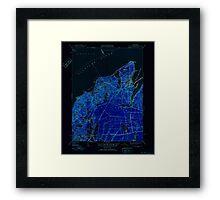 Massachusetts  USGS Historical Topo Map MA Vineyard Haven 352286 1951 31680 Inverted Framed Print