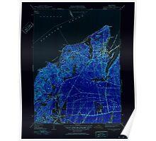Massachusetts  USGS Historical Topo Map MA Vineyard Haven 352286 1951 31680 Inverted Poster