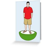 The Subbuteo Dresser 'Colin' Greeting Card