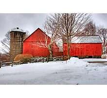 Barns in Winter Photographic Print