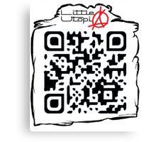 Little Utopia QR Code Canvas Print