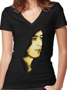 Mr Page Women's Fitted V-Neck T-Shirt