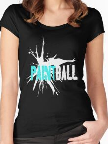 Paintball Teal White Women's Fitted Scoop T-Shirt
