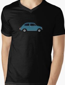 Fiat 600 Side View Mens V-Neck T-Shirt