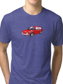 VW Brasilia Red Tri-blend T-Shirt