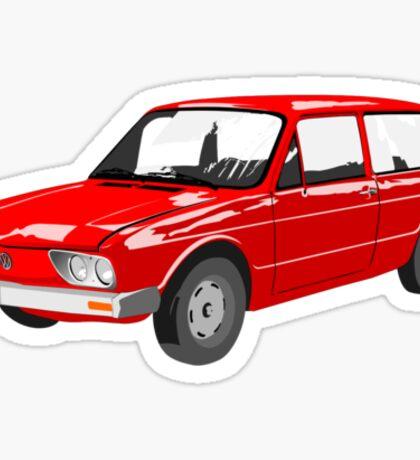 VW Brasilia Red Sticker