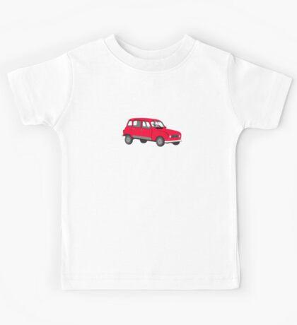 Renault 4 GTL Red Kids Tee
