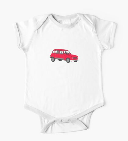 Renault 4 GTL Red One Piece - Short Sleeve