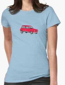 Renault 4 GTL Red Womens Fitted T-Shirt