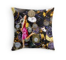 Running Out Of Time! Throw Pillow