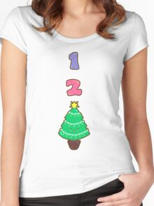 Count to Christmas Women's Fitted Scoop T-Shirt