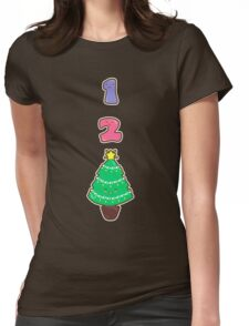 Count to Christmas Womens Fitted T-Shirt