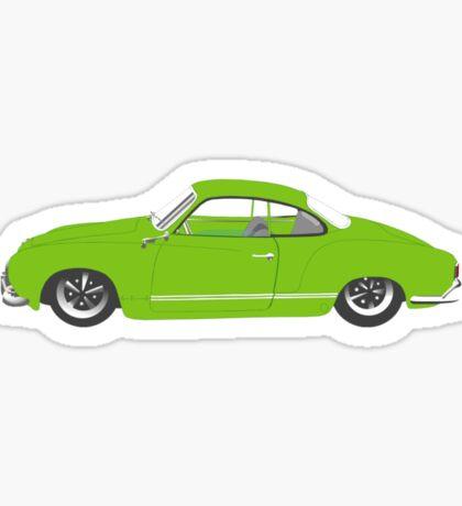 Green Karmann Ghia Tshirt Sticker