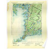 Massachusetts  USGS Historical Topo Map MA Falmouth 352629 1915 62500 Poster