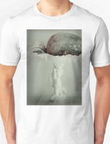 PEAR SCULPTURE ON CUPID STATUETTE  Unisex T-Shirt