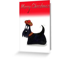 Scottie Dog 'Merry Christmas' Greeting Card