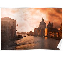 Dawn in Venice Poster