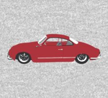 Red Karmann Ghia Kids Tee