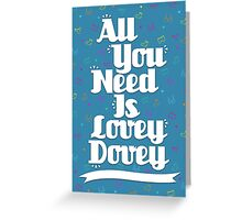 Lovey Dovey - White Greeting Card