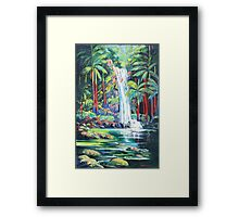 Curtis Falls with Red Palms ,Tamborine Mountain  Framed Print