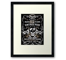 Aged 62 Years Vintage Dude The Man The Myth The Legend Framed Print