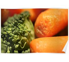 broccoli and carrots Poster
