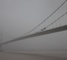 Misty Bridge - River Humber by James  Patrick