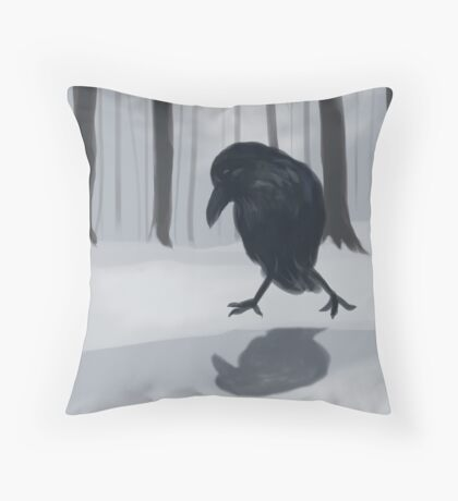 Foreign Raven Throw Pillow