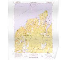 Massachusetts  USGS Historical Topo Map MA Vineyard Haven 351379 1972 25000 Poster