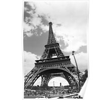 Black eiffel tower Poster