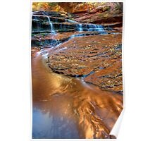 Copper Waters, Left Fork of the North Creek, Zion Poster