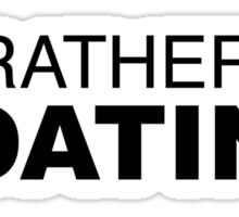 I'd rather be BOATING Sticker