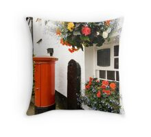 Letter box Hawkshead  Throw Pillow
