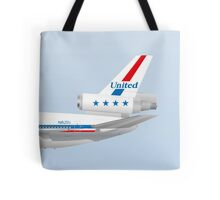 Wings In Uniform - DC-10 - United Airlines 70's Tote Bag