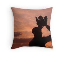 Prince Hal and the Sunset Throw Pillow