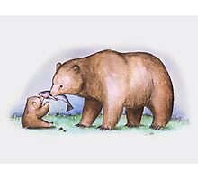 Bear & Cub Photographic Print
