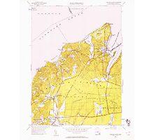 Massachusetts  USGS Historical Topo Map MA Vineyard Haven 350664 1951 24000 Photographic Print