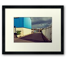 Green Bin Hiding  Framed Print