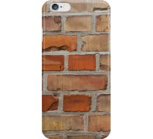 Red wall - brick wall background iPhone Case/Skin