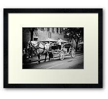 Horse and buggy Framed Print