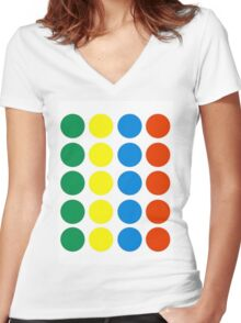 Twister Women's Fitted V-Neck T-Shirt