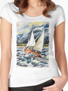 Stormy Way Home Women's Fitted Scoop T-Shirt
