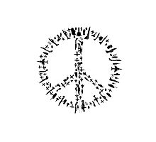 Peace sign Illustration - Guns and Weapon Photographic Print