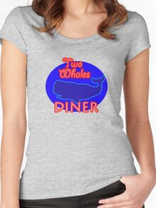 """Two Whales Diner """"So Damn Touristy"""" Women's Fitted Scoop T-Shirt"""